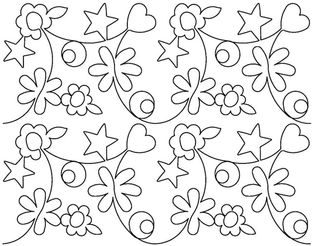Blossoming Quilts Designs Edge To Edge 2 Per Sq Inch